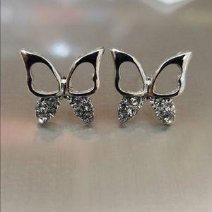 Jewelry - Brand New Butterfly Stud Earrings in Silver